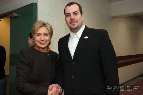 Hillary Clinton and Devon Hillard