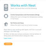 Nest Thermostat Authorization Screen